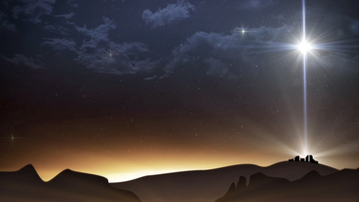 We saw the star over bethlehem christmas is coming
