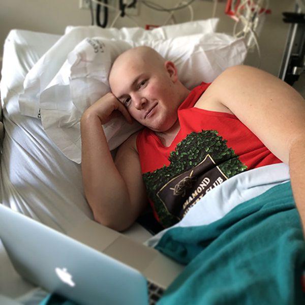 Riley in hospital