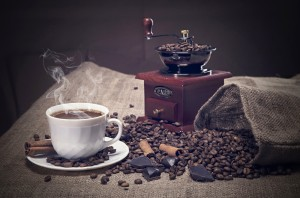 Coffee Grinder And Cup