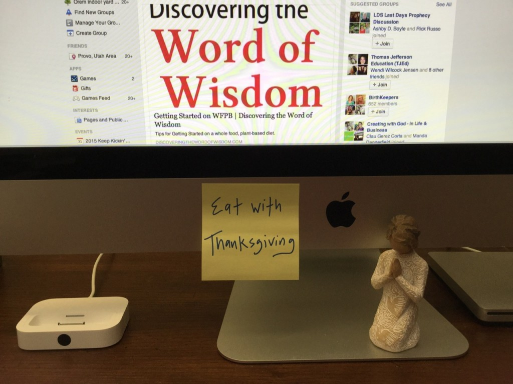 Discovering The Word Of Wisdom Eat With Thanksgiving
