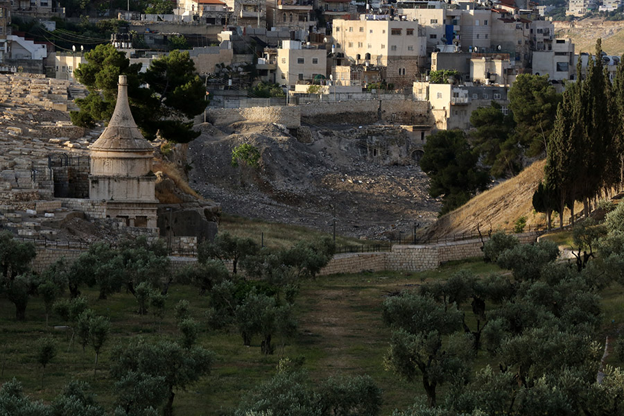 They crossed the Kidron brook, the light of a nearly full moon illuminating the way, and climbed the Mount of Olives to the Garden of Gethsemane, a place where they had often retreated together. This garden was actually an olive vineyard, its name Gethsemane meaning