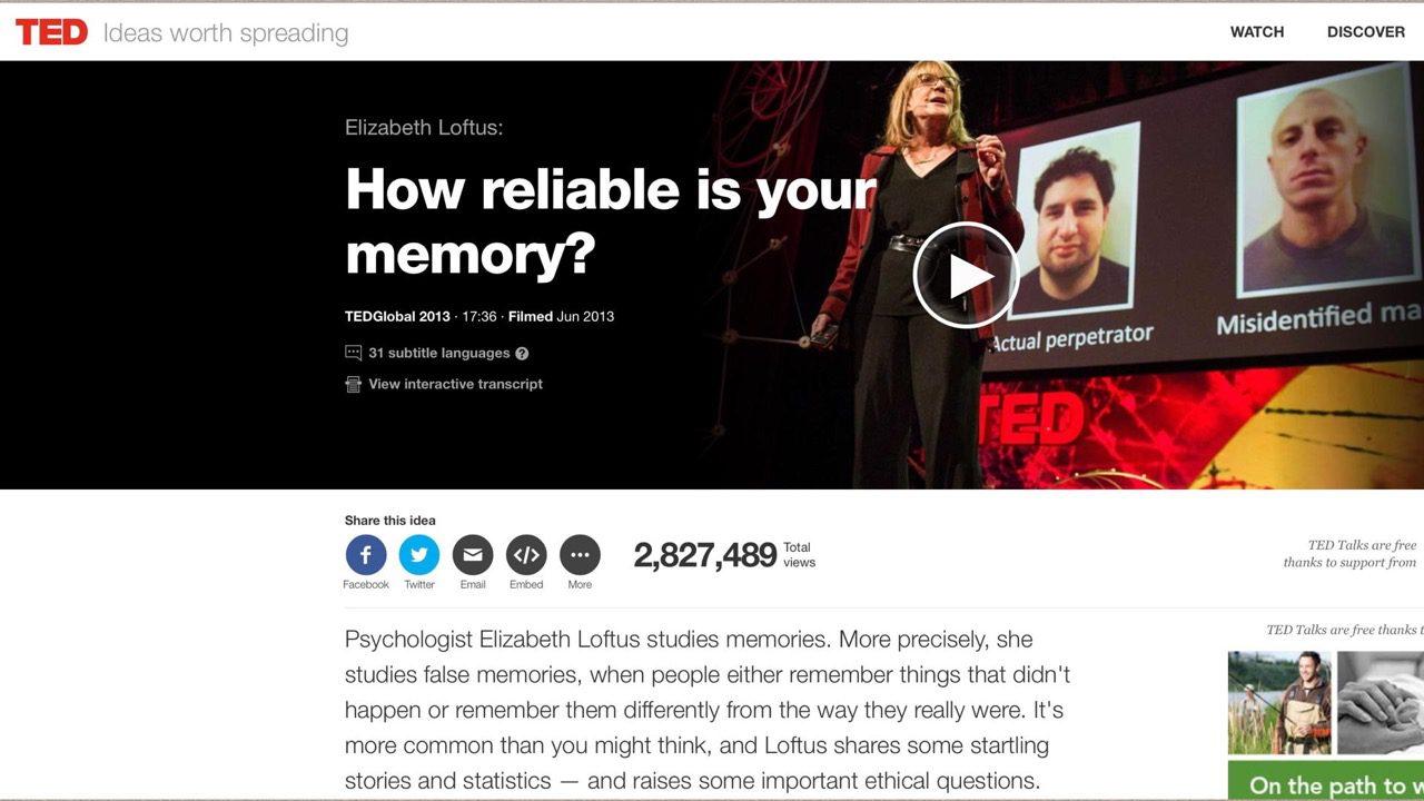 05-10-Elizabeth Loftus TED talk