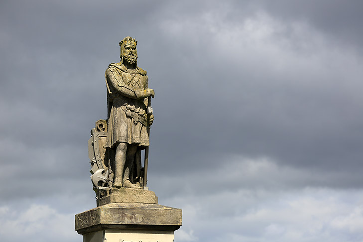 If you are looking for an amazing man in history, you'll find him here at Stirling Castle: William Wallace. He fought relentlessly for the freedom of Scotland.