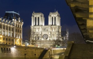 The historic Catholic cathedral Notre Dame is considered as one of the finest examples of French Gothic arcitecture and it is among the largest and most well-known church buildings in the world.
