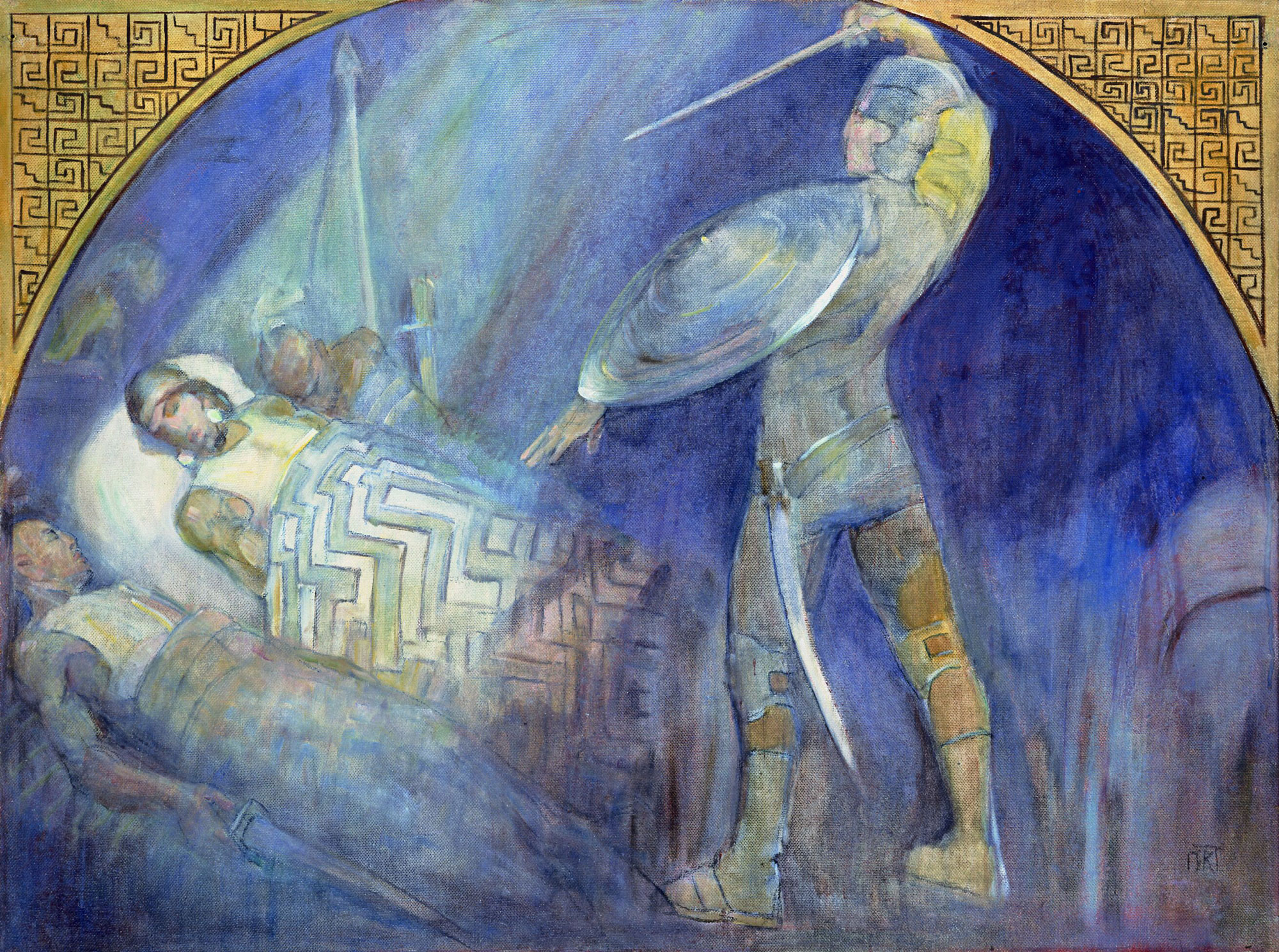 death_of_amalickiah_mural