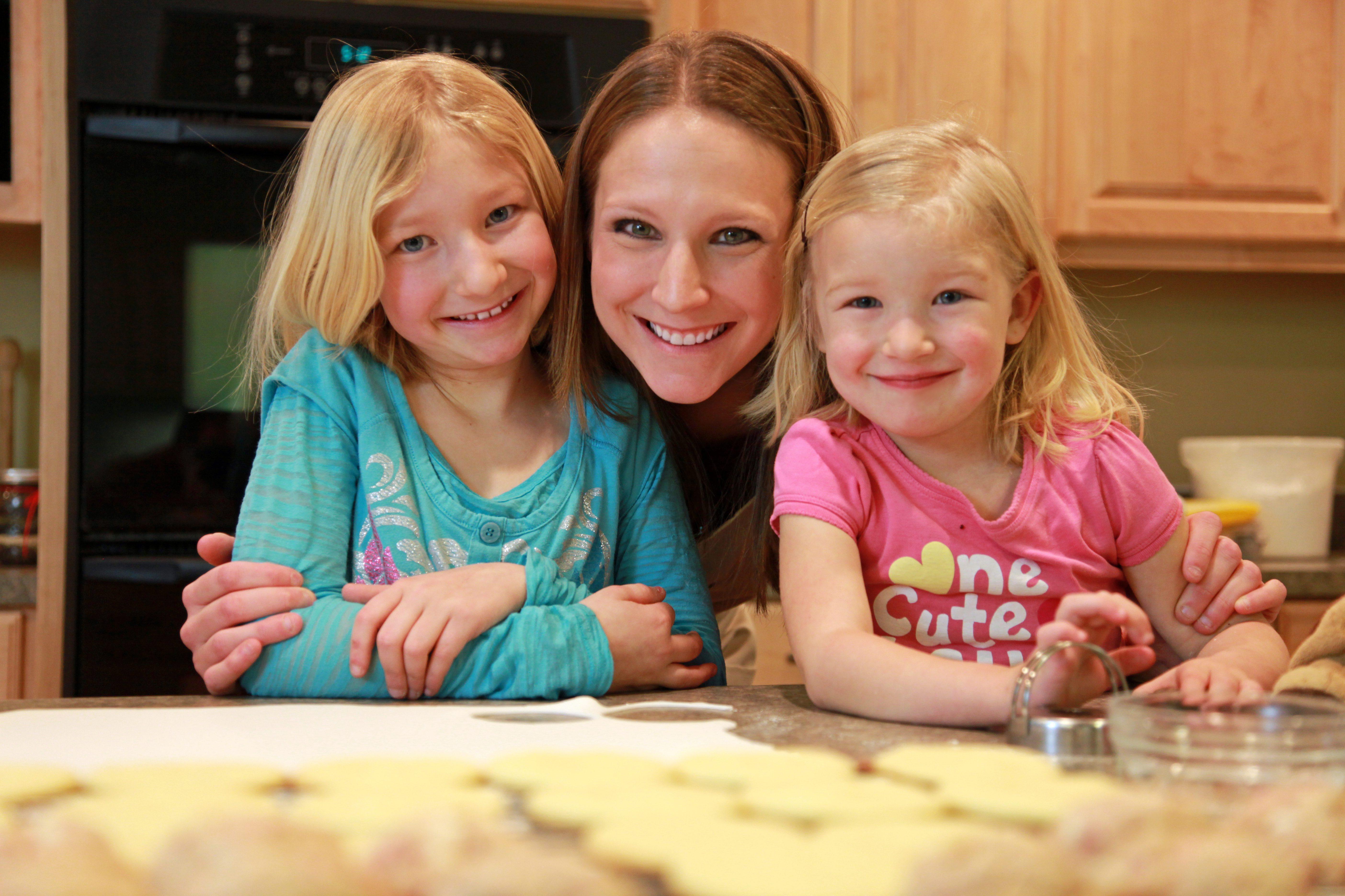 Deb and kids baking