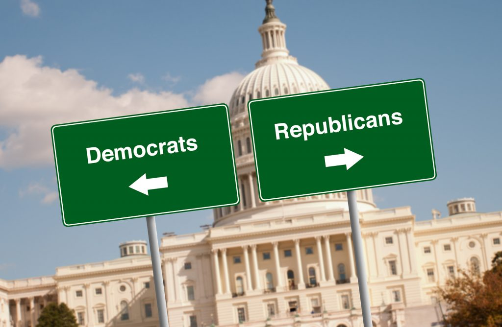 Street signs in Washington D.C. by the Capitol building