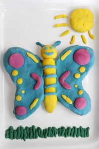 play dough butterfly