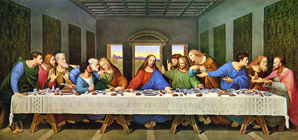 Lesson #1: At the Last Supper, Jesus Washed the Feed of His Disciples Da Vinci Last Supper Restored