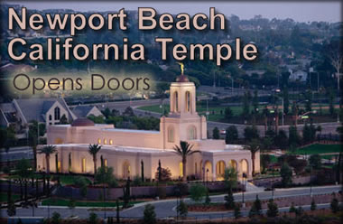 Newport Beach California Temple Opens Doors