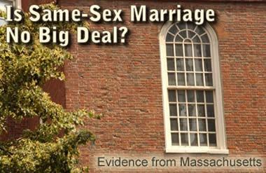 Is Same-Sex Marriage No Big Deal?