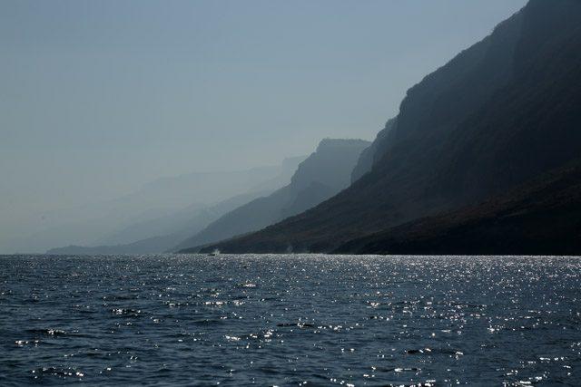 The sea by Khor Kharfot.