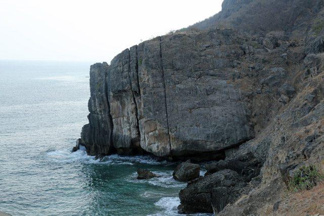 Cliffs at Khor Kharfot.