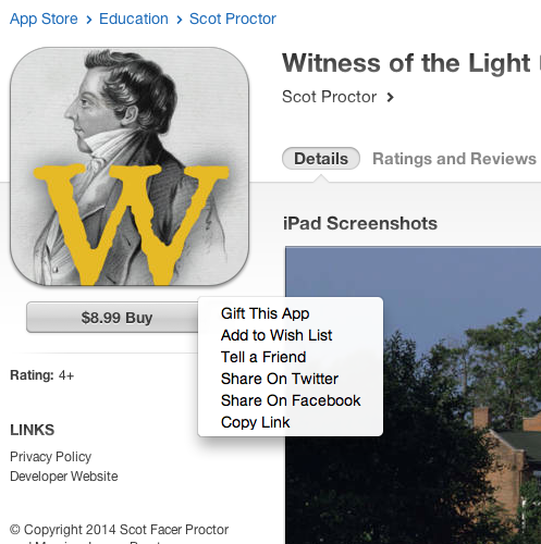 Share and Buy Screen Witness Itunes