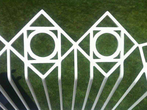 San Diego Temple fence derivative.