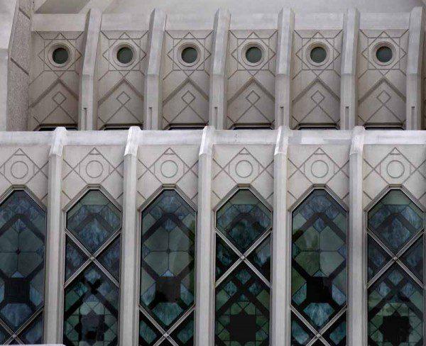 San Diego temple windows