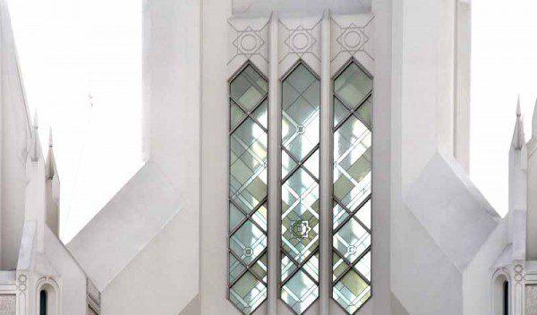 San Diego steeple glass.