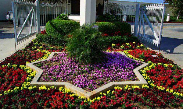 San Diego Temple garden.