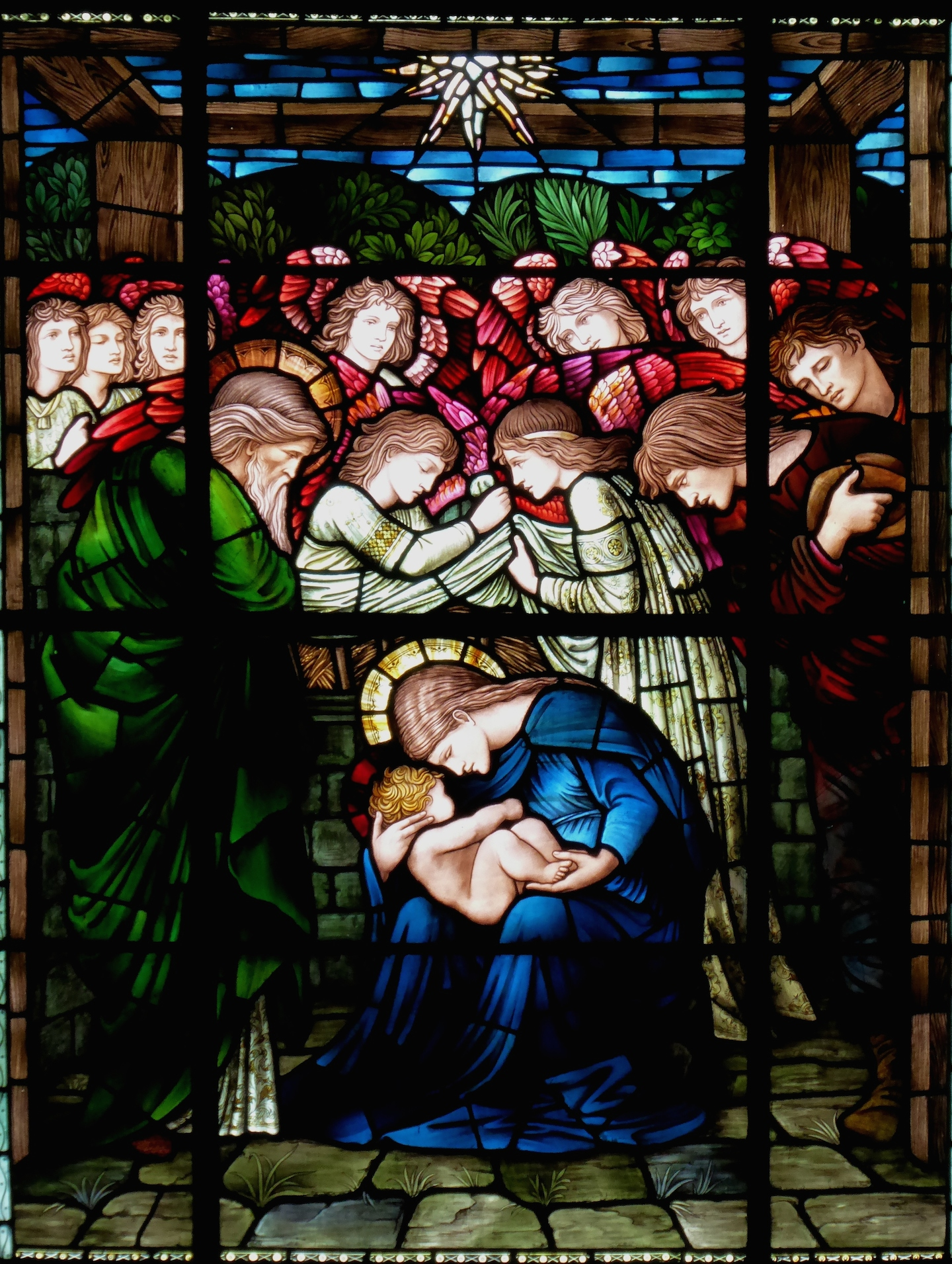 Winchester Cathedral, Burne Jones, The Nativity, Adoration of the Shepherds