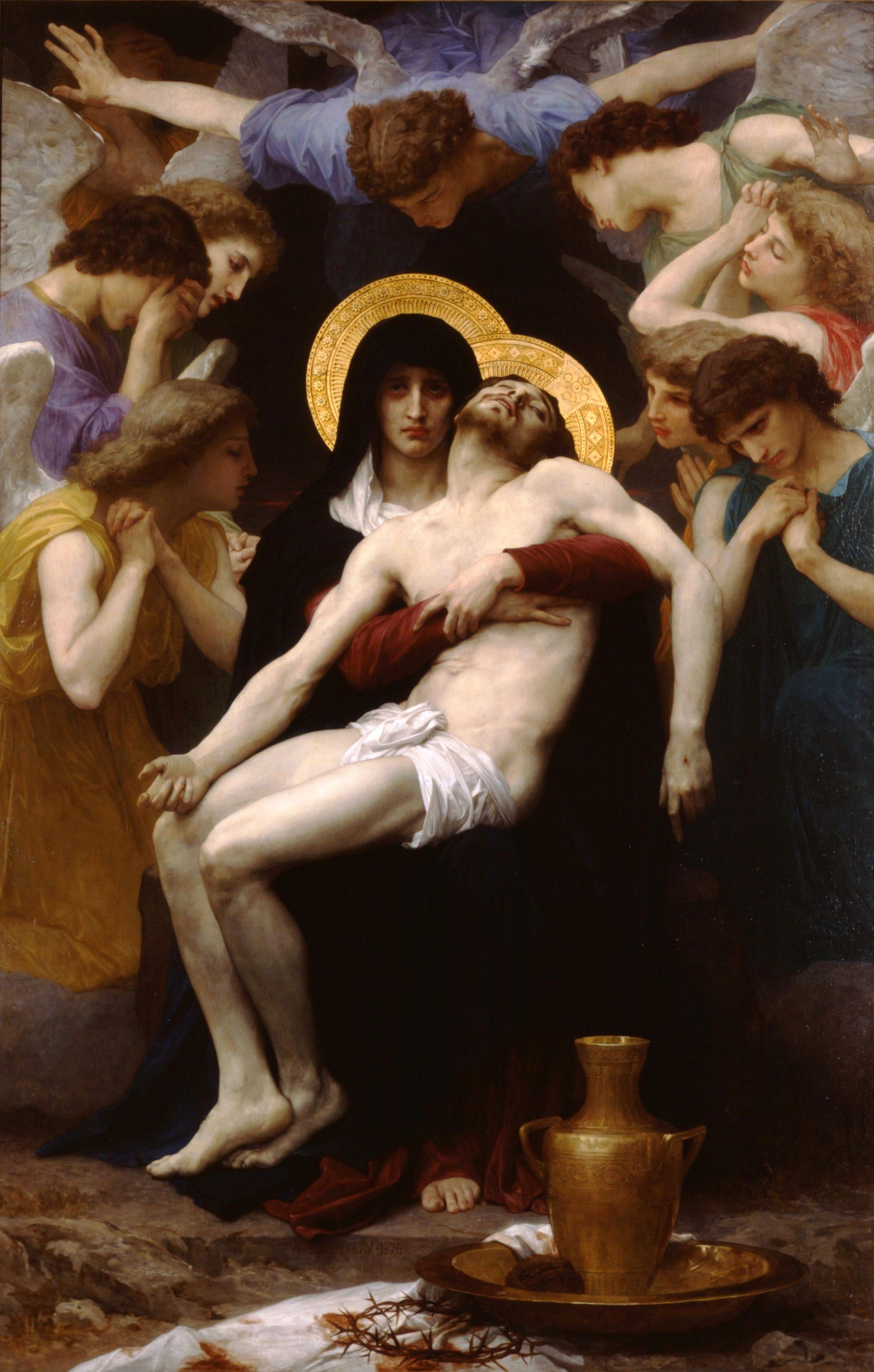 """Pieta"" by William Bouguereau (1876)"