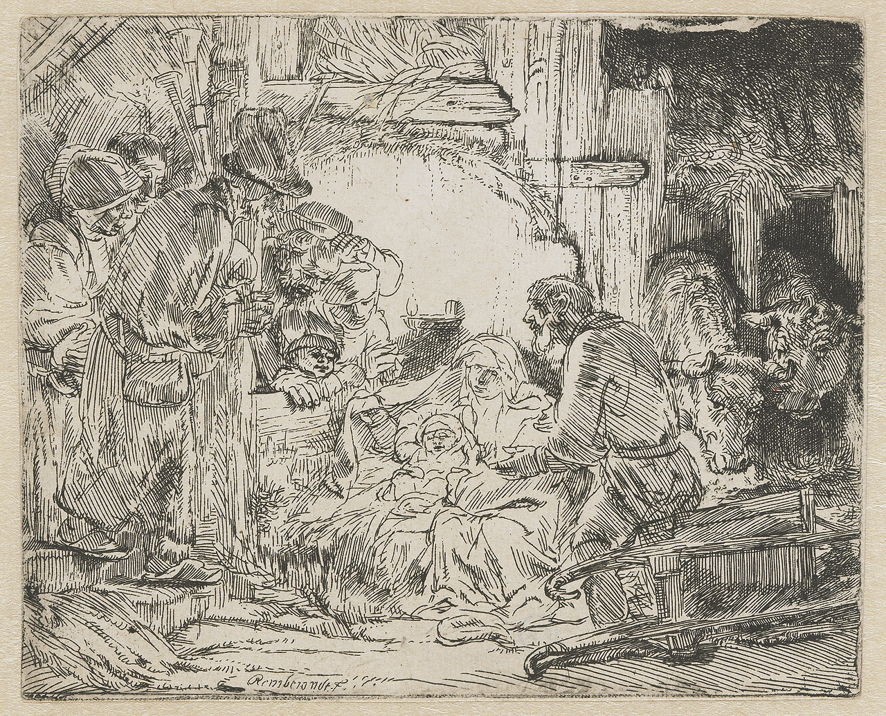 """Nativity"" by Rembrandt (1654)"