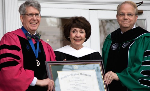 Provost-Sowell-Kathleen-Knight-and-President-Wilcox