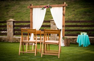 Waiting for a wedding outdoor ceremony, wedding decoration