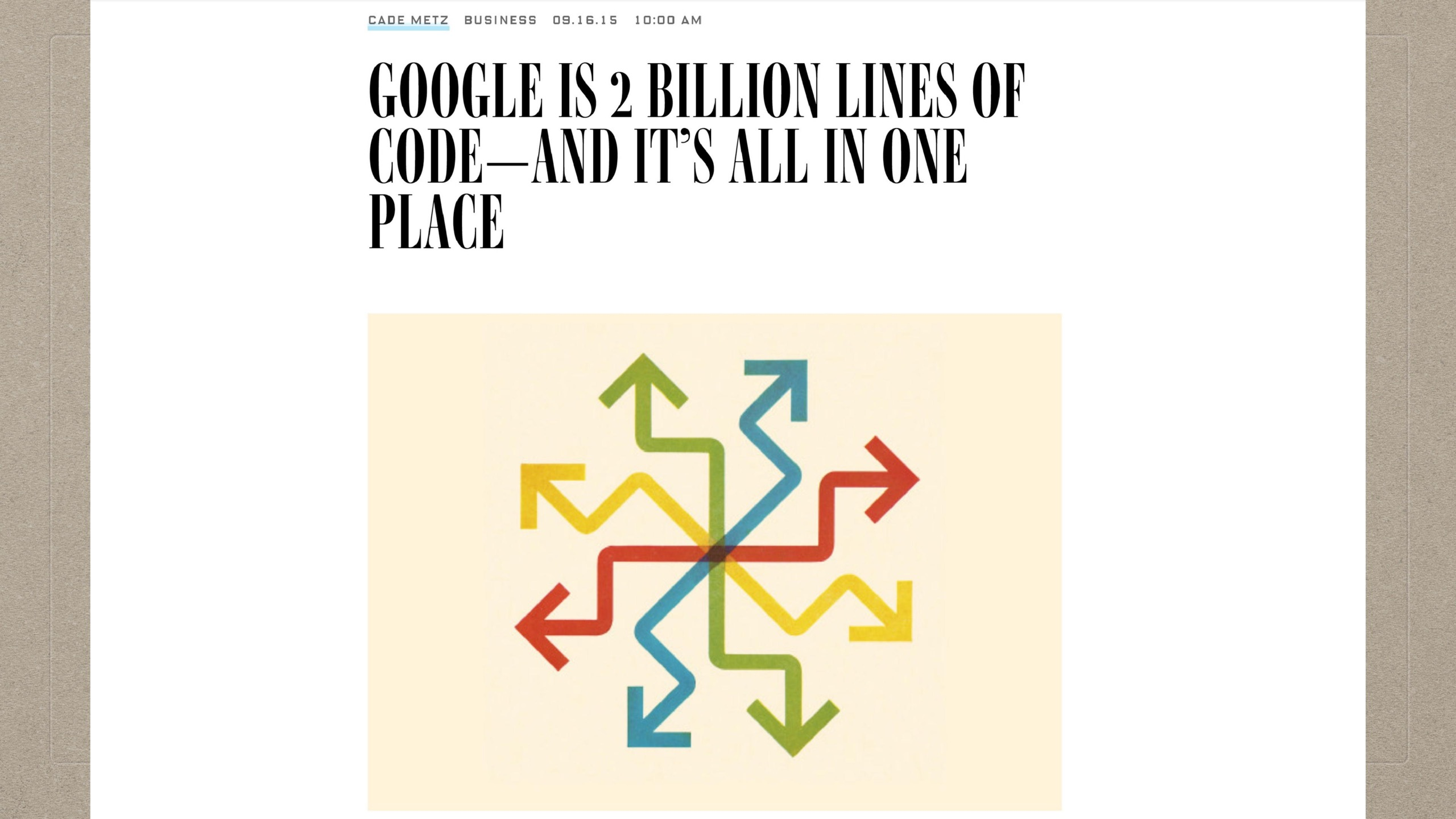 03-07-Google Is Two Billion LInes of Code