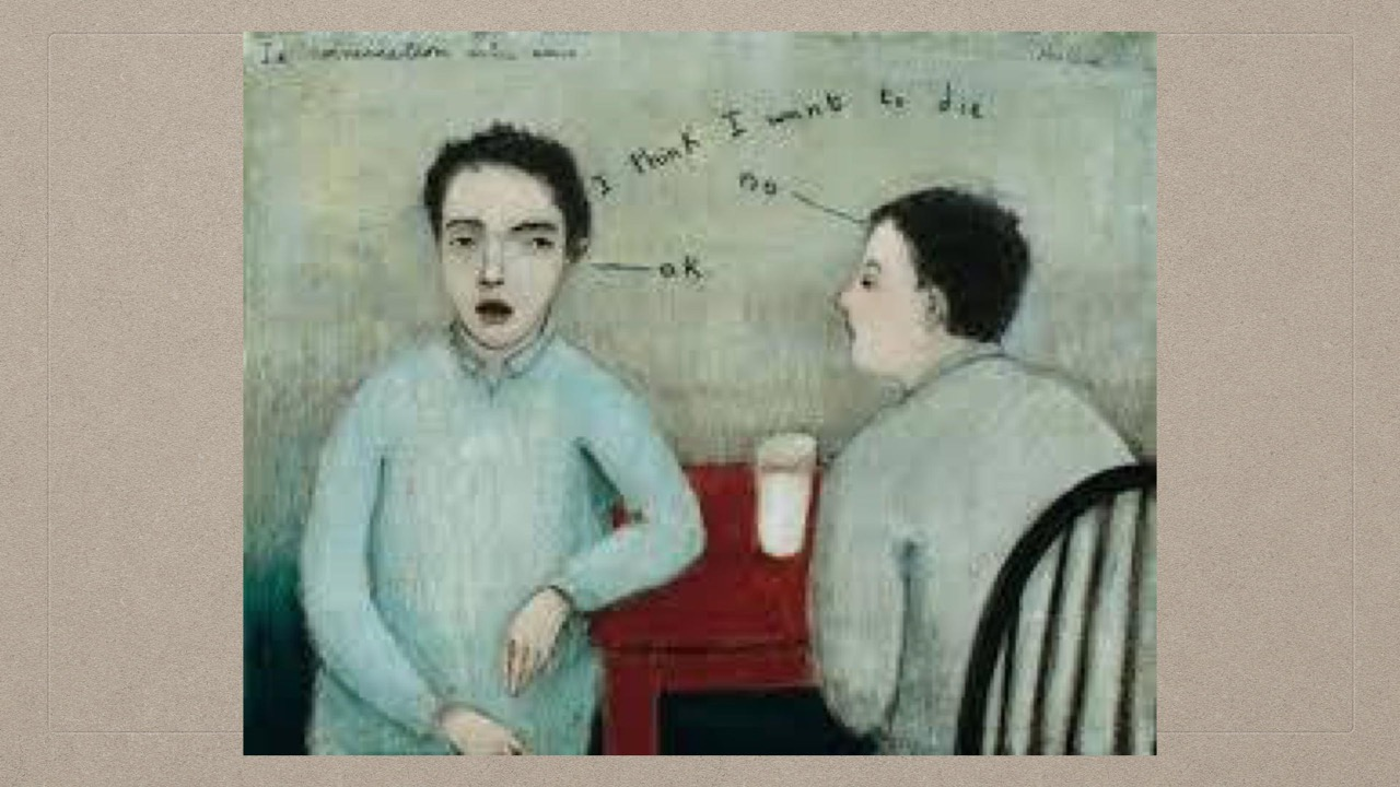 04-07-Kershisnik-La Conversation Entre Amis