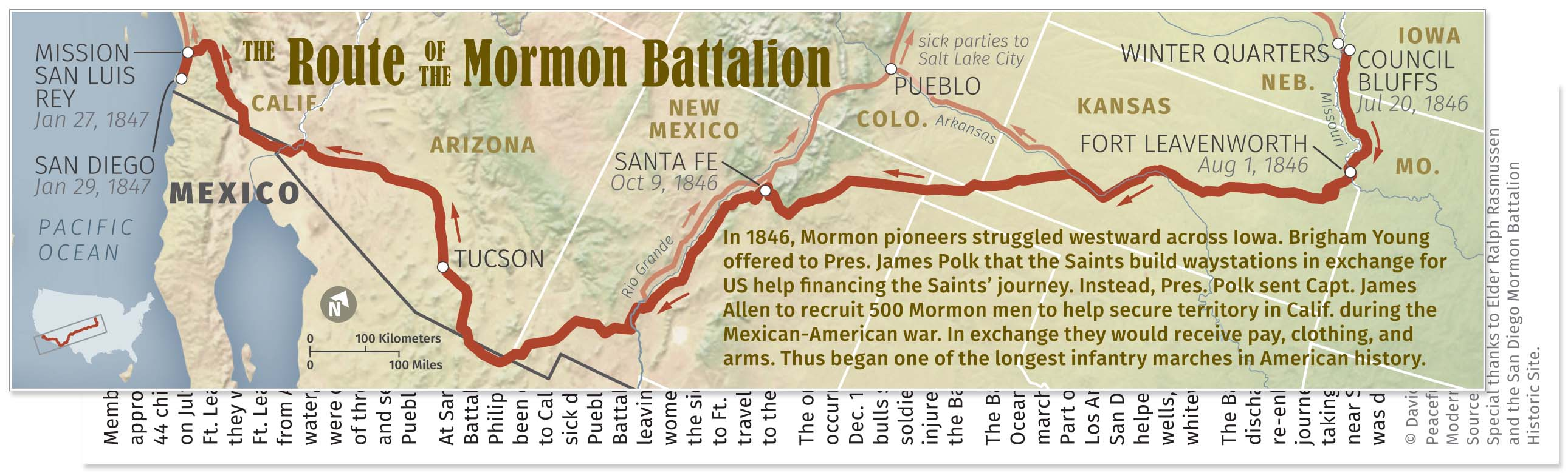 0002 Mormon Battalion Visitors Center Map Bookmark W Back Expan