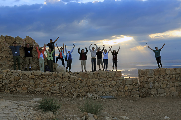Hiking Masada to be at the top for sunrise is exhilarating! The view from the top is reward enough--but there's more!
