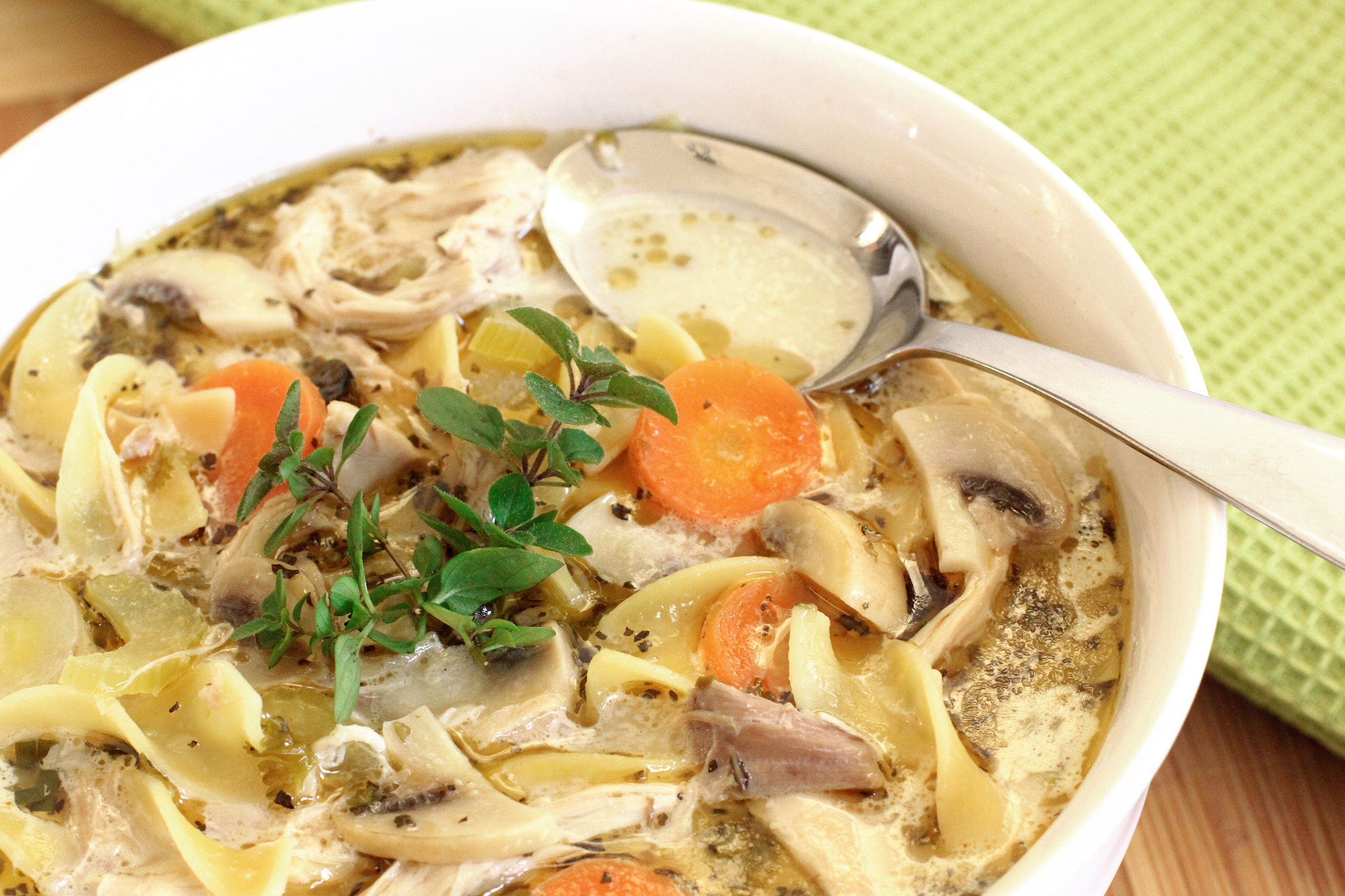 how to make old-fashioned chicken soup with homemade egg