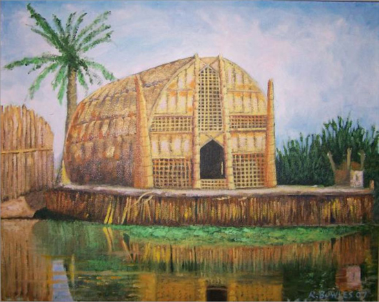 12-Long hut of the marsh Arabs