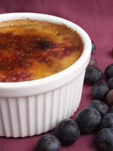 berry creme brulee