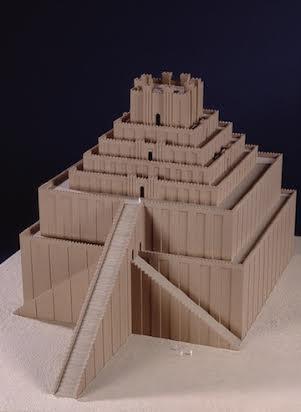 Ziggurat Model Of The Marduk Temple Tower At Babylon Vorderasiatisches Museum Staatliche Museen Berlin Germany 1999